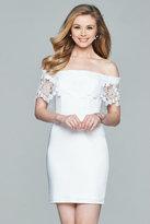 Faviana Off Shoulder Short Dress s8094