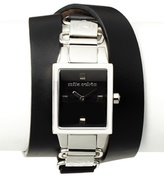 Mila Schon Women's MS.1028L/01 Black Leather Watch