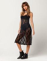 Hip Sheer Lace Slip Dress