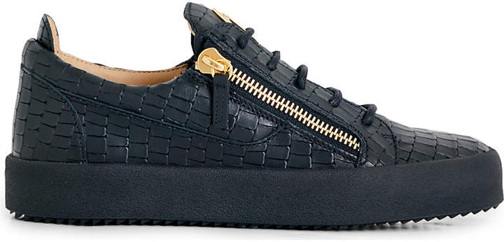 Giuseppe Zanotti Croc-effect leather trainers