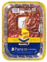 Reynolds 13x9x2 disposable aluminum foil cake pan w lids. 2 count