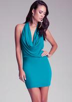 Bebe Cinched Front Halter Dress
