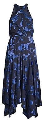 Parker Black Women's Sierra Floral Halter Handkerchief Dress