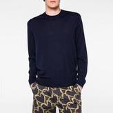 Paul Smith Men's Navy Merino-Wool Sweater