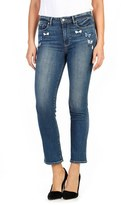 Paige Women's Jacqueline Embroidered High Rise Straight Leg Jeans