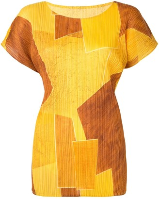 Issey Miyake Pre-Owned Plisse Colour-Block Top