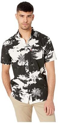 Levi's Mozell Poplin Short Sleeve Woven Shirt (Caviar) Men's Clothing