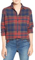 Madewell Women's Shrunken Flannel Boyfriend Shirt