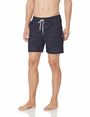 Hurley Men's Heather Textured Volley Swim Board Short Trunks