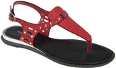 Red Studded Sandal