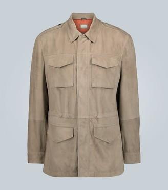 Brunello Cucinelli Sahariana suede safari jacket