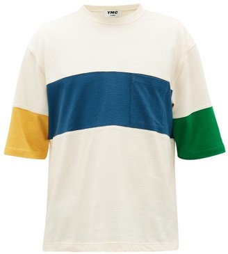 YMC Zappa Panelled Cotton-blend Mesh T-shirt - Mens - Multi