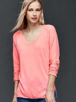 Gap Linen blend V-neck sweater