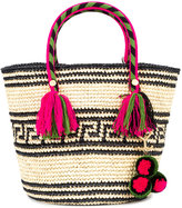 Yosuzi Kolet woven tote with pouch - women - Straw - One Size