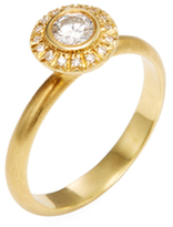 Rina Limor Fine Jewelry 18K Yellow Gold & 0.33 Total Ct. Diamond Halo Ring