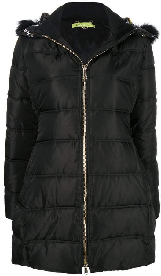 Versace zipped padded coat