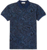 Etro Slim-Fit Paisley-Print Cotton-Piqué Polo Shirt