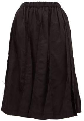 Comme des Garcons Raw Edge Panelled Twill Skirt - Womens - Black