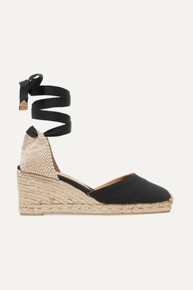 Castaner Carina 60 Canvas Wedge Espadrilles - Black