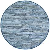Matador Leather and Denim Dhurry Round Rug