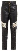 Thumbnail for your product : Marques Almeida Panelled Leather Biker Trousers - Multi