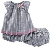 Osh Kosh Baby Girl Striped Top & Bloomer Set