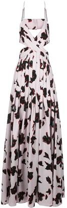 Proenza Schouler Printed Iris Maxi Dress