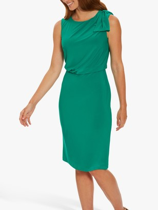 Gina Bacconi Estefani Bow Shoulder Jersey Dress