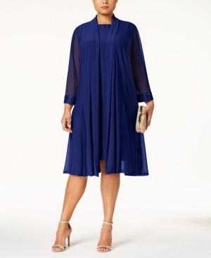 R & M Richards Plus-Size Embellished Dress & Jacket Set