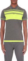 HUGO BOSS Cotton-blend jersey polo shirt