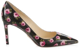 Prada Floral Patent Leather Pumps