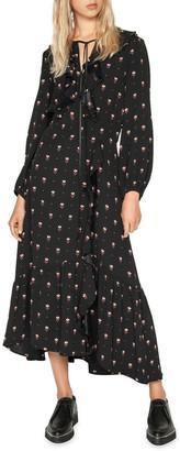 Cue Geometric Motif Midi Dress