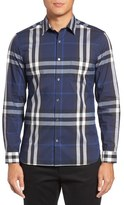Burberry 'Nelson' Trim Fit Check Sport Shirt