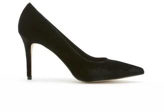 Mint Velvet Sarah Black Velvet Court Shoes
