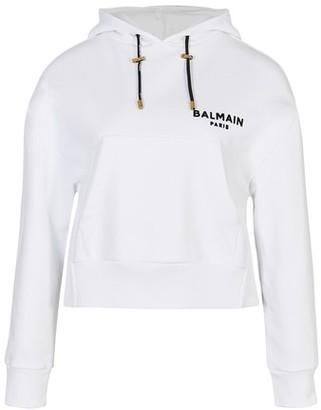 Balmain Logo hooded sweatshirt