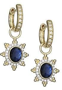 Jude Frances Women's Provence 18K Yellow Gold, Gemstone Doublet & Pave Diamond Sunburst Earring Charms