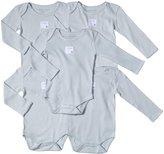 Burt's Bees Baby 5 Pack Essentials Solid LS Bodysuits (Baby)-Sky-6-9 Months