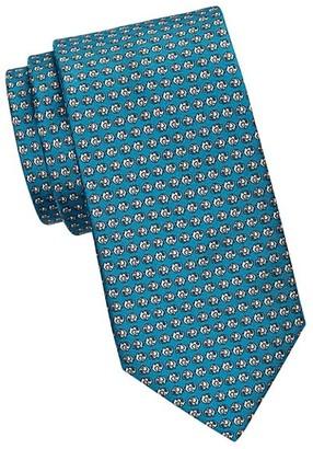 Saks Fifth Avenue Elephant Print Silk Tie