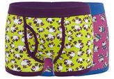 Red Herring Pack Of Two Purple Sheep And Dog Keyhole Trunks