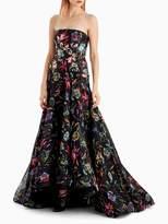 Jason Wu Printed Organza Strapless Gown