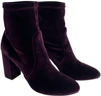 Aquazzura Purple Velvet Ankle boots