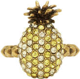 Gucci Yellow Small Crystal Pineapple Ring
