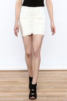 luxxel Tie Up Mini Skirt