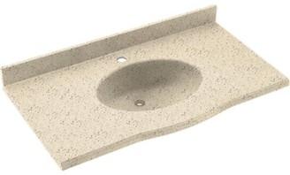 "Swan Europa Solid Surface 37"" Single Bathroom Vanity Top Top Finish: Tahiti Desert"