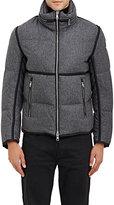 Moncler Men's Combo Coat With Foldaway Hood-DARK GREY