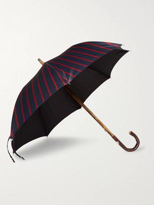 Francesco Maglia Striped Wood-Handle Umbrella
