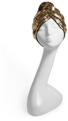 MaryJane Claverol Sequin Twist-Front Turban