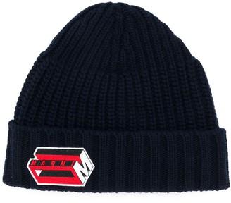 Marni Logo Embroidered Beanie Hat