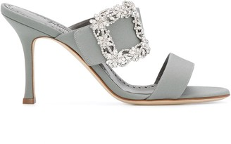 Manolo Blahnik Gable Jewel 90mm sandals