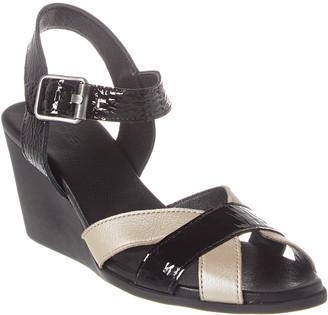 Arche Egowa Leather Wedge Sandal